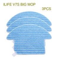 Original ILIFE V7S Big Mop Cloths 3 Pcs Robot Vacuum Cleaner Parts From The Factory