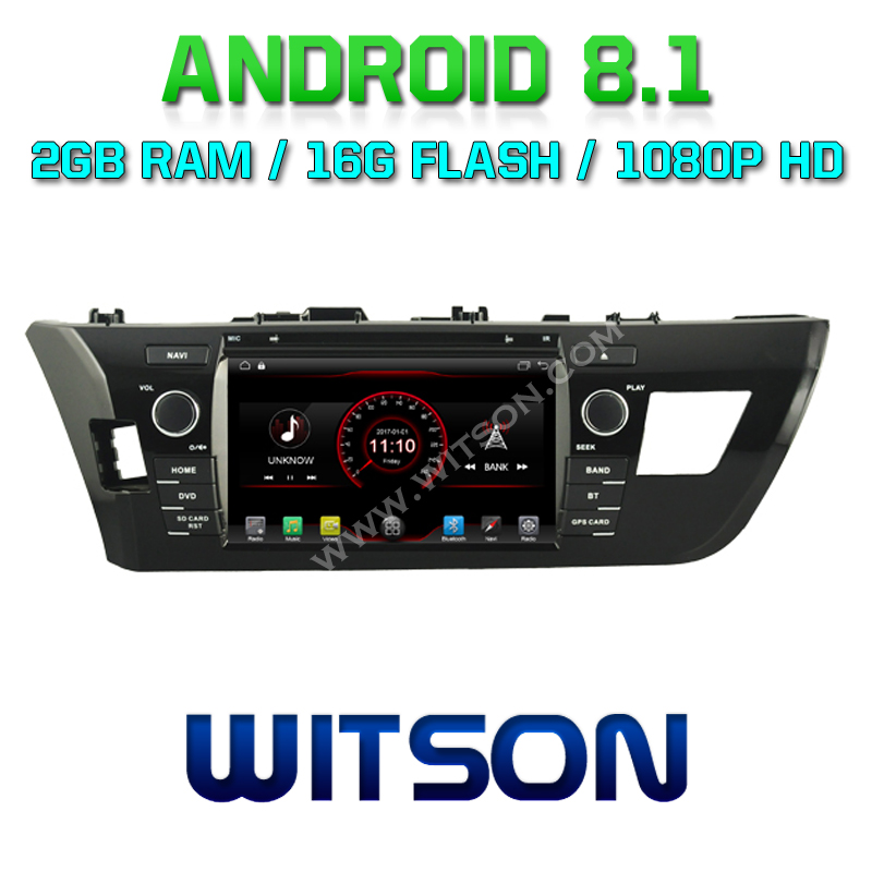 WITSON Android 8.1 CAR AUDIO GPS DVD For TOYOTA COROLLA 2014 car dvd player 1080P HD Mirror Link/TPMS/DVR/OBD/4G modem support