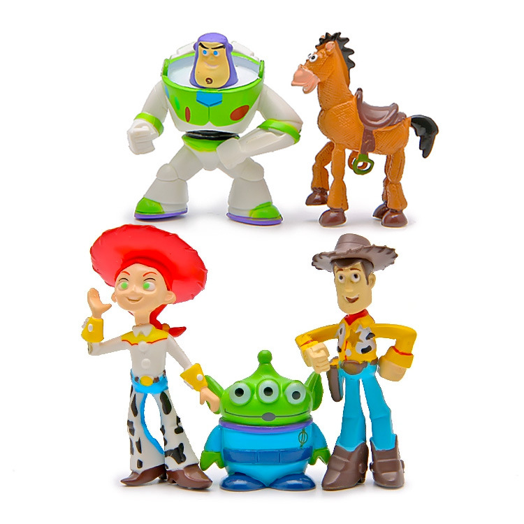 5pcs/set Anime Toy Story 3 Buzz Lightyear Action Figure Alien 5cm Doll Model Kids Toy the toy story pink pig hamm action figure toy doll