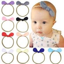 Повязка на голову для маленьких девочек; аксессуары для волос; повязка на голову с заячьими ушками и бантом для новорожденных; повязка на голову для малышей