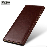 Wobiloo Top Layer Cowhide Genuine Leather Case Business Flip Phone Accessories Bag Cover For ZTE Nubia