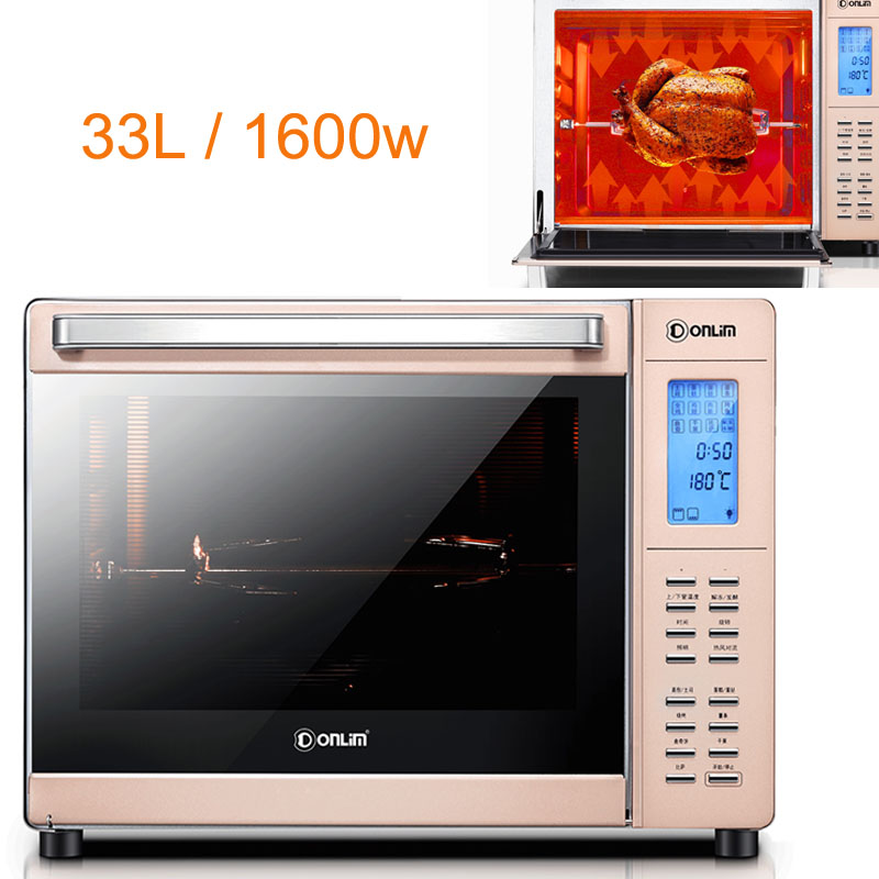 JA181, Electric Oven Microcomputer Baking Oven with Washing-free Enamel Liner/360 Degree Rotating Fork LED Display 33L 1600w 1 pcs silicone rugs baking liner best oven mat