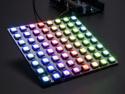 10pcs WS2812 LED 5050 RGB 8x8 64 LED Matrix