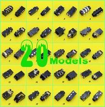 ChengHaoRan 20 Modellen, 2.5mm 3.5mm Audio Jack, Audio connector, vrouwelijke Hoofdtelefoon Socket voor Telefoon/Handbook/Notebook
