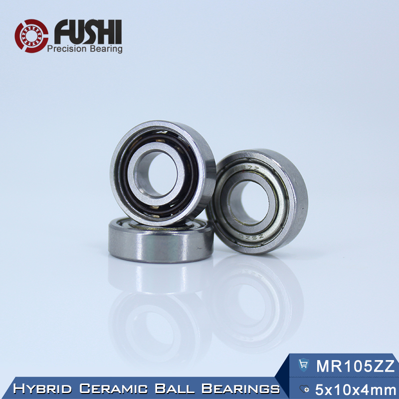 MR105 Hybrid Ceramic Bearing 5*10*4 mm ABEC-1 ( 1 PC) Industry Motor Spindle MR105HC Hybrids Si3N4 Ball Bearings 3NC MR105ZZ boss mr105