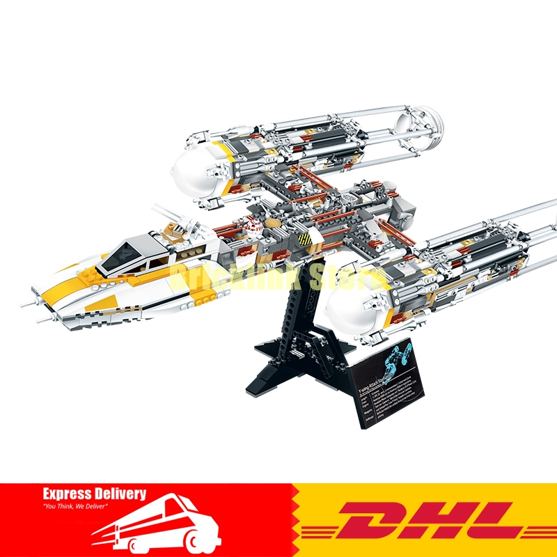 IN STOCK Lepin 05040 1473Pcs Y-wing Attack Starfighter Building Blocks Assembled bricks Toys for Children Boy gift with 10134 lepin 05040 star wars y wing attack starfighter model building kits blocks brick toys compatiable with lego kid gift set