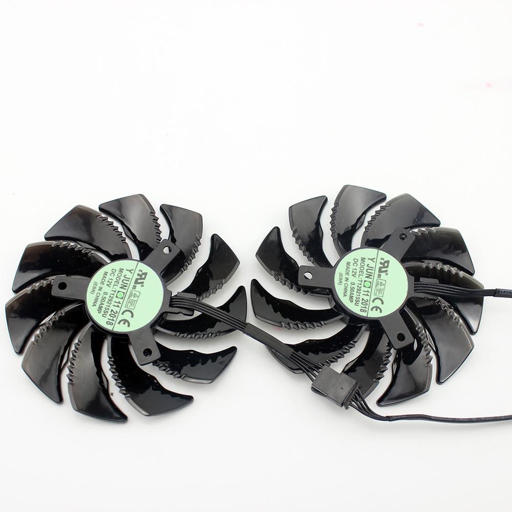 88MM PLD09210S12HH T129215SU 4Pin Cooler Fan For Gigabyte GeForce GTX1060 1070 GTX 1050ti GTX 960 RX570 RX470 Graphics Card 5