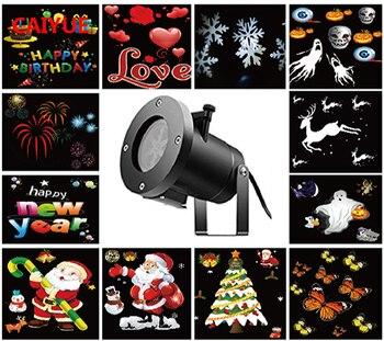 Weihnachten Dekoration Für Startseite Xmas Lichter Outdoor Indoor 12 Arten FÜHRTE Schneeflocke Projektor Wasserdichte Bühne Beleuchtung Für Garten