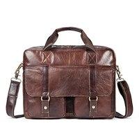 Genuine Leather Men Bag Bolso Hombre Cowhide Leather Business Men Handbag Briefcase Casual Laptop Computer Bag Bolso Ordenador