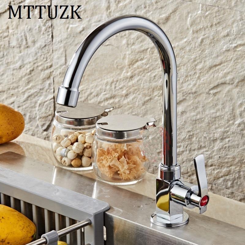 MTTUZK Quartet kitchen faucet basin faucet single handle single cold tap deck mounted torneira crane free