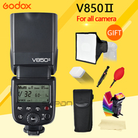 Godox V850II Camera Flash with Changeable Li ion Battery Camera Speedlite Flash for Canon Nikon Sony DSLR cameras + gifts