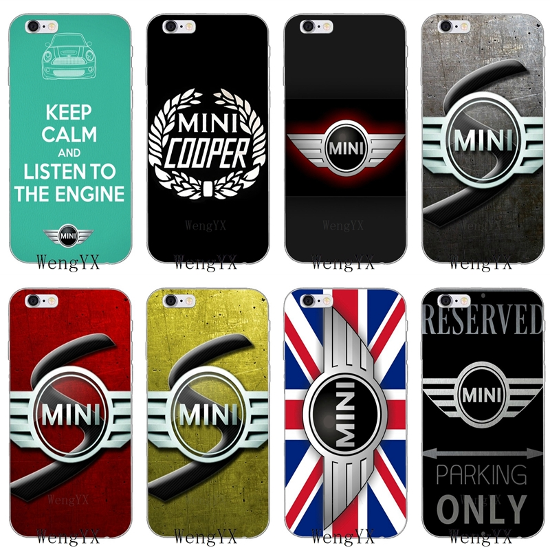 Design auto mini cooper <font><b>logo</b></font> Dünne silikon Weiche telefon fall Für Apple <font><b>iPhone</b></font> 4 4 s 5 5 s 5c SE 6 6 s 7 8 plus X XR XS Max image