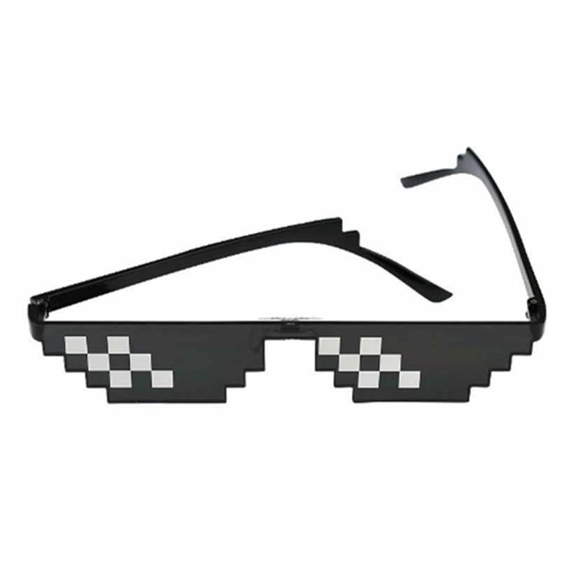 para Hombres y Mujeres Amarillo Individual Estilo Vintage Gafas de Sol pixeladas para Fiesta con Mosaico Victoy MLG