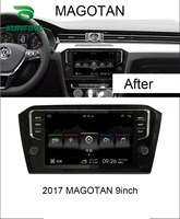 Quad Core 1024*600 Android 6.0 Car DVD GPS Navigation Player Deckless Car Stereo for VW Magotan 2017 Headunit Radio