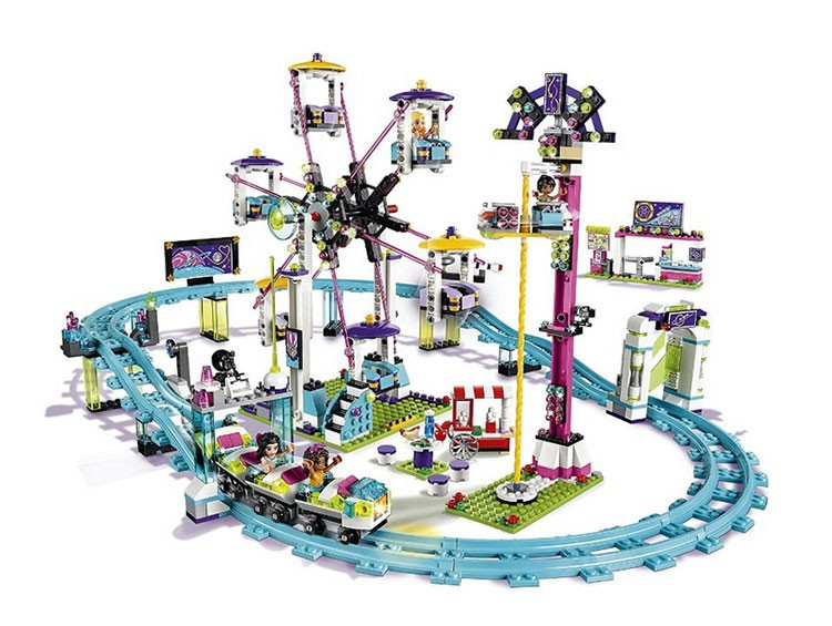 Model building kits compatible with lego city girls friend Amusement Park 3D blocks Educational model building toys