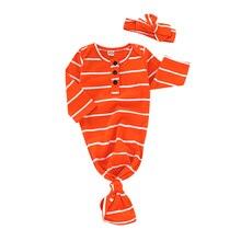 Новорожденный ребенок полосатый спальный мешок Пеленать Обернуть постельные принадлежности одежда шляпа наряд
