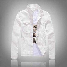 Spring and autumn new mens cowboy jacket long sleeved