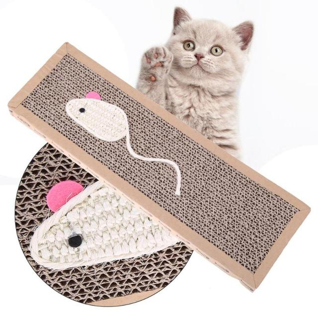 Sisal Cat Scratch Board With Catnip Bed House Cushion Mat Scratcher Scratching Pad Post