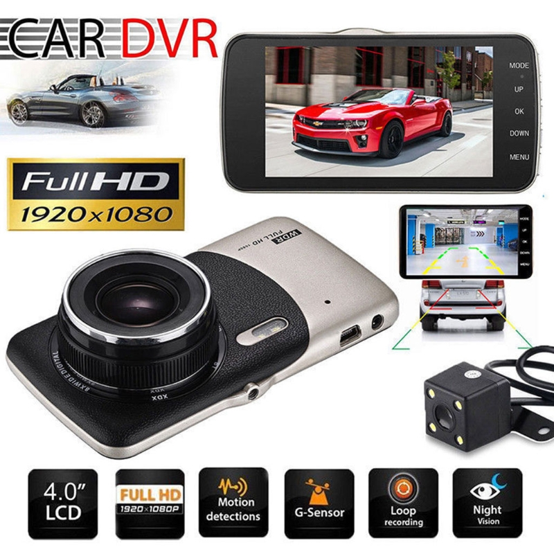 DVR 4 Car Dash Camera Front Rear Video Recorder 1080P 170 Degree HD Car DVR Dual Lens With Rear View Camera Night Vision 32GB xycing car dvr 360 degree rotating suction cup bracket car holder 3 pin connector for g50 g55 g52d gs52d car dvr camera
