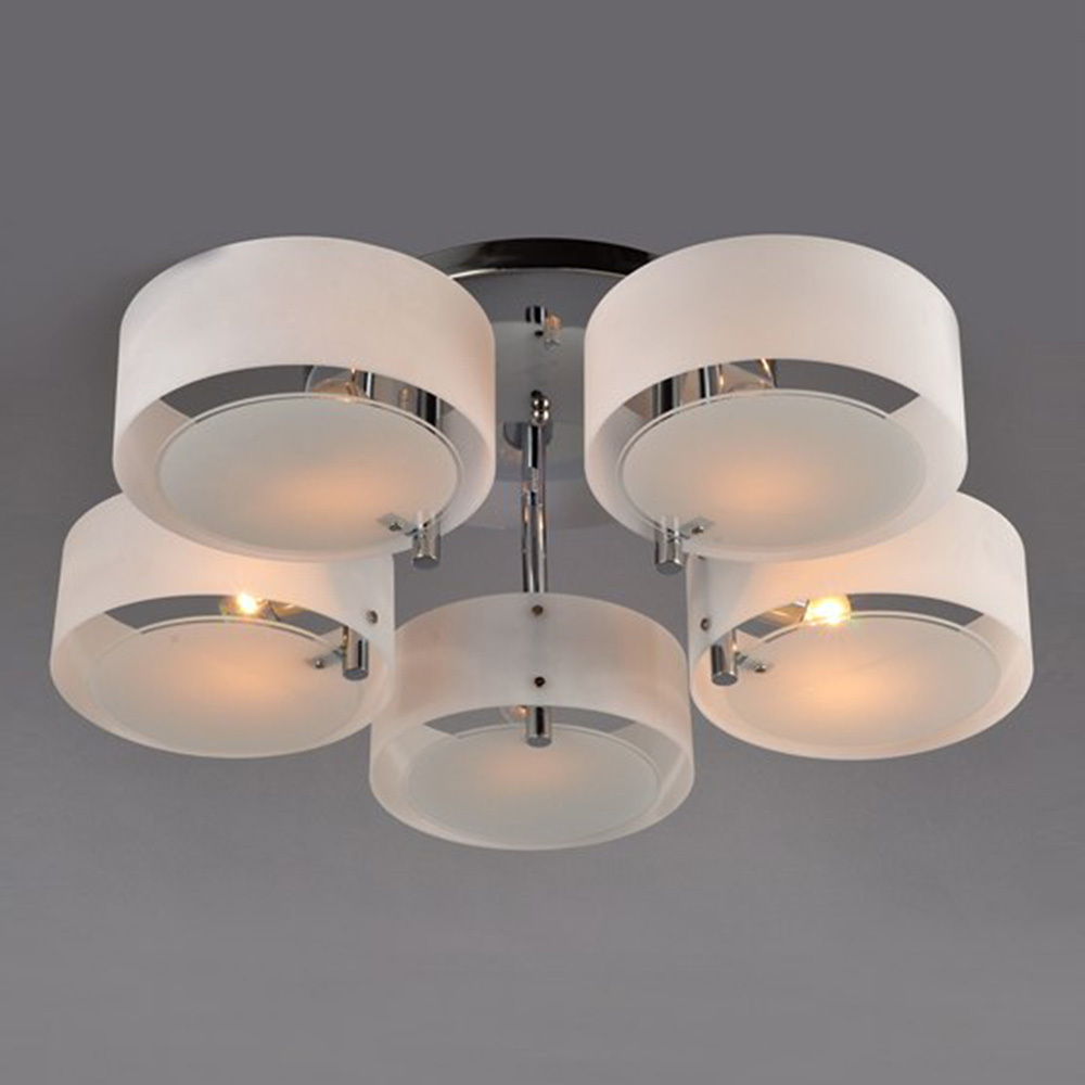 mediterranean style lustres acrylic art decorative ceiling light 5 heads led circle light fixture home lutres luminaire light ceiling lighting fixtures home