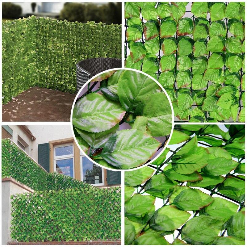 3pcs 1mx3m artificial hedge fence fake rose leaf plastic garden fence rose leaves for garden fence