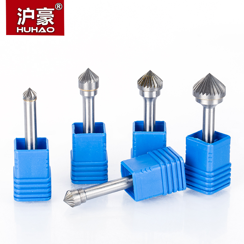 HUHAO 1pc <font><b>6mm</b></font> <font><b>Shank</b></font> Tungsten Steel <font><b>Cutter</b></font> Metal Grinding Carving Rotary File Cylindrical Router Bit For Metal Polishing K Type image