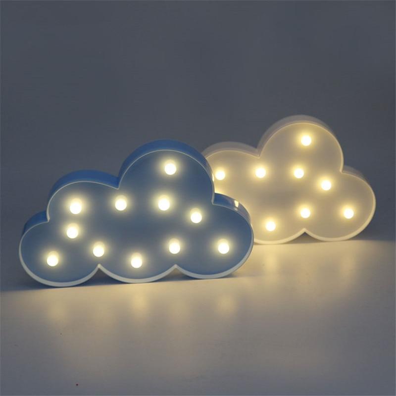 Luzes da Noite adorável nuvem estrela lua led Potência : 0-5 w