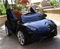 Новые Детские электромобиль четыре колеса дистанционного Управление игрушечный автомобиль ребенок дети езды на автомобиле зарядки качели