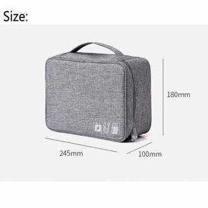 Image 5 - Bolsa de almacenamiento Digital AU, estuche organizador de dispositivos de viaje para disco duro/USB/Cable de datos