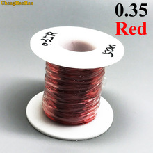ChengHaoRan 0.35mm Red x50m QA-1-155 Polyurethane enameled wire Copper Wire 50meter/pc