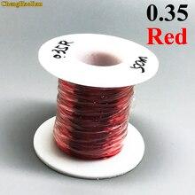 ChengHaoRan 0.35mm Rosso x50m QA 1 155 Poliuretano filo smaltato filo di Rame Filo di 50 metro/pc