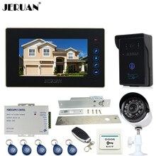 JERUAN 7 inch Video door Phone Entry intercom System kit waterproof RFID Access Camera +700TVL Analog Camera + remote control