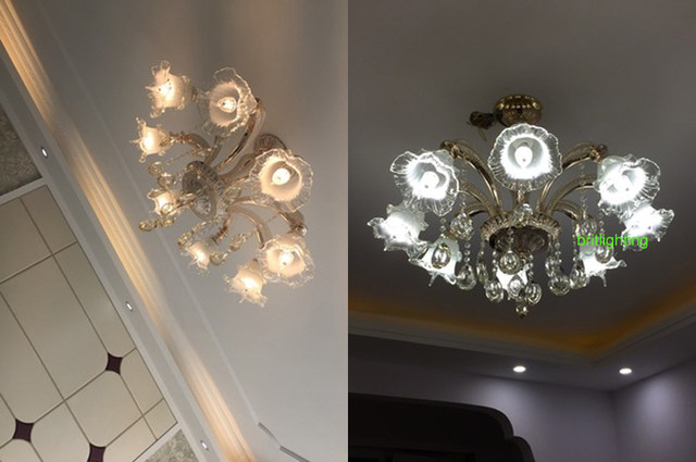 Online Shop Moderno Lampadari Di Cristallo di Illuminazione LED Oro ...