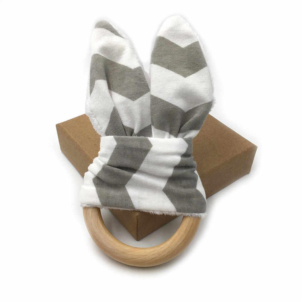 ساجاتشي (ساجاتشي) خشخيشات الأطفال والهواتف النقالة ألعاب الأطفال طفل أطفال طفل موبايل لعب خشبية أرنب الأذن رنين جرس SL-69 19Apl3