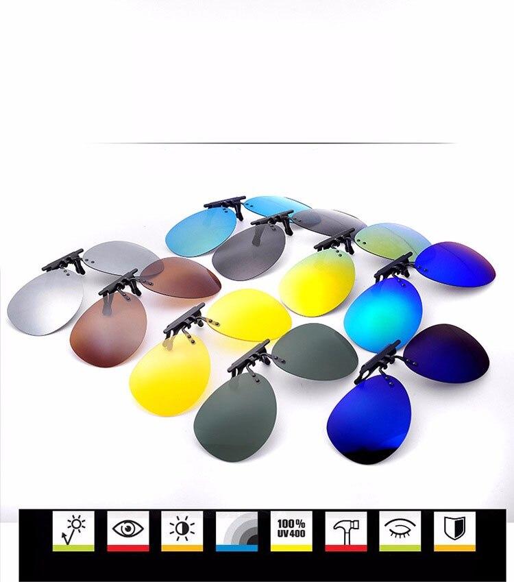 f8d04a92255 Ralferty Mirrored Polarized Clip On Sunglasses Men Pilot Flip Up ...
