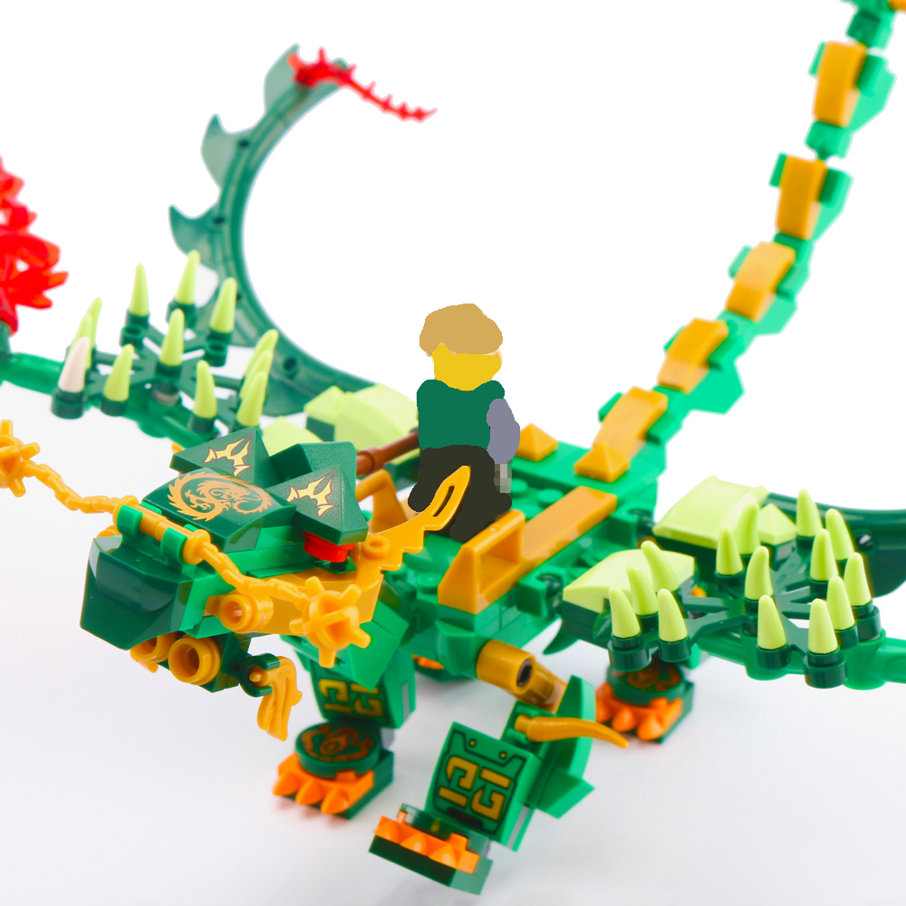 396pcs Ninja Dragon Knight Lloyd With Green Dragon Building Blocks Toys Compatible LegoINglys NinjagoINGLYs Bricks For Kids in Blocks from Toys Hobbies