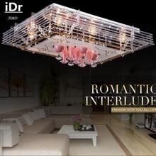 Роскошная спальня лампа Европа минималистский гостиная с телевизором с плоским низкого напряжения кристалл светодиодные потолочные освещения