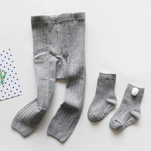 0-2Y Summer Thin Baby Infant Girl Knitted Cotton Tights Toddler Newborn Kids Pantyhose Fashion Stocking