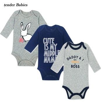 0e2690e3c 2018 bebé niña niño ropa para recién nacidos niños mameluco para bebés 3  unids/lote ropa de bebé niño niña bebé de Navidad ropa