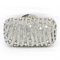 Stylish Red Women Rhinestone Evening Bag Luxury Crystal Studded Diamante Designer Clutches Evening Party Purse Ladies