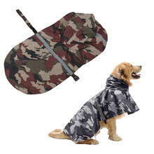 Large Dog Raincoat 2019 2 Colors Camouflage For Dogs Husky/Labrador Waterproof Reflective M-XXL