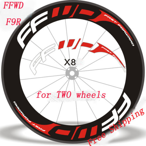 FFWD two wheels rim set replacement Stickers for 700C Road Bike bicycle race decals FFWD F9R fast forward fit 80 88 90 mm Rims mavi deemax mountain bike 26 27 5 29 inch bicycle two wheels set rim stickers for mtb vinyl race dirt replacement decals