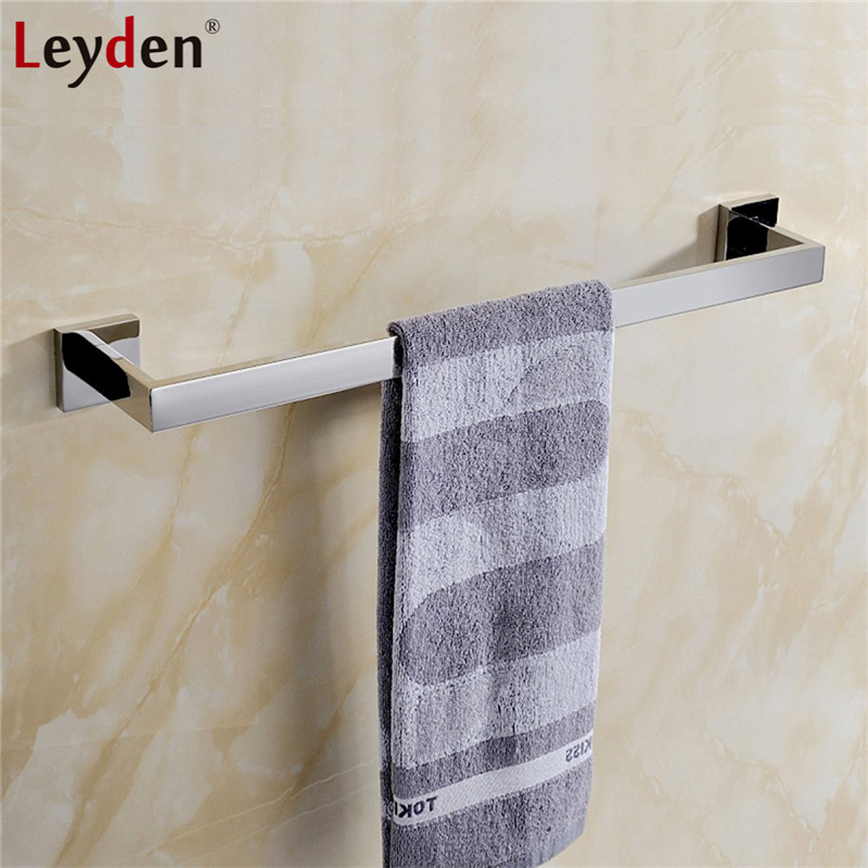 Leyden High Quality Wall Mount Single Towel Bar SUS304 Stainless Steel ORB/ Chrome Finish Bathroom Accessories Towel Hanger Rack high quality bathroom accessories stainless steel black finish towel ring holder