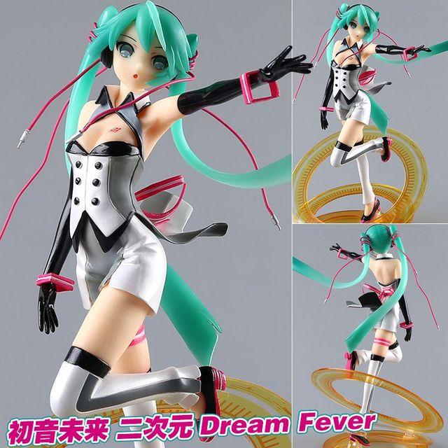 Vocaloid Hatsune Miku Racing MIku Figurines 21cm Japan Anime Tell Your World Ver Pvc Nendoroid Miku Dream Fever Ver. brinquedos