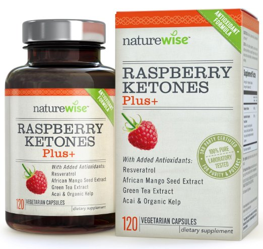 NatureWise Raspberry Ketones Plus+ Advanced Antioxidant Blend with Green Tea for Weight Loss, 120 count chinese puer tea 125g natural freshest jasmine tea flower tea organic food green tea health care weight loss free shipping