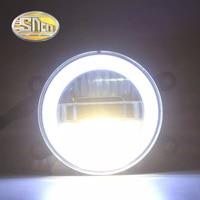SNCN Safety Driving LED Angel Eyes Daytime Running Light Auto Bulb Fog Lamp For Mitsubishi Outlander ASX Triton Pajero V87 V97