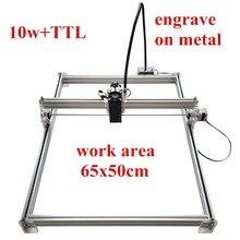 65*50 10 watt Mini desktop DIY Laser gravur graveur schneidemaschine Laser Radierer CNC drucken bild von mark auf metall große arbeits
