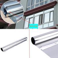 0 9x5m Window Film Anti UV One Way Silver Mirrored Film Heat Control Home Interiors Privacy