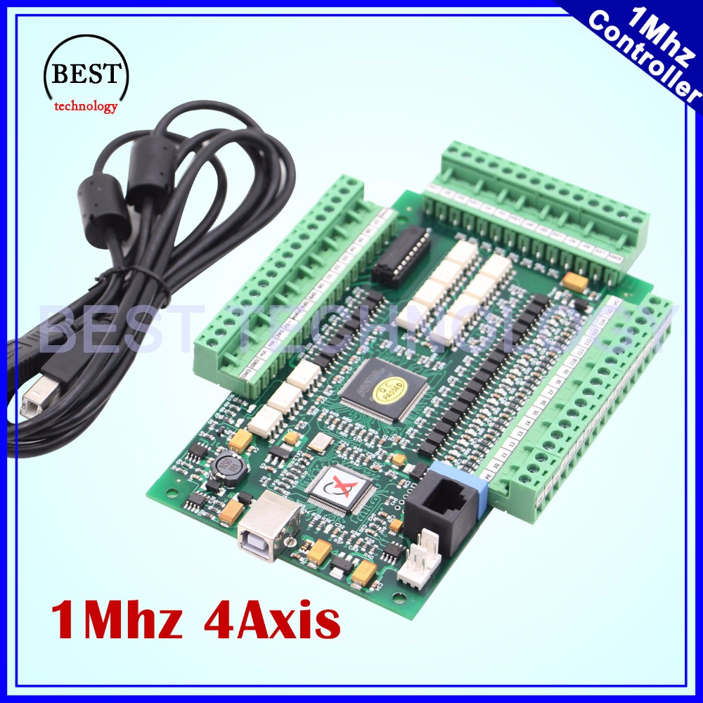 MACH3 4 Axis USB control board Motion Control Card interface 1Mhz CNC Controller Driver Board for stepper motor and servo motor cnc milling machine ethernet mach3 interface board 6 axis control