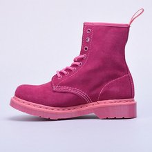 2017 new fashion women martin boots pink suede timber boot lady winter casual ankle platform shoes brand flat zapatos